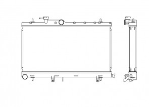 Subaru Impreza 00-07 WRX 2.0 /STI 2.5 Koyo Alu Radiator 53mm