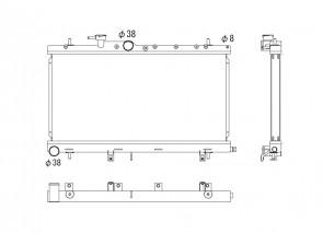 Subaru Impreza 00-07 WRX 2.0 /STI 2.5 Koyo Alu Radiator 36mm